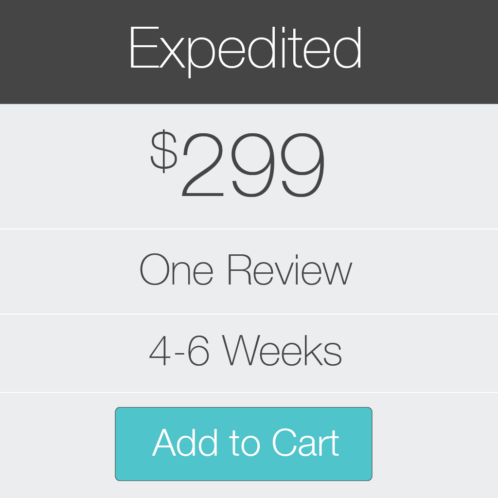 Expedited Review for your book